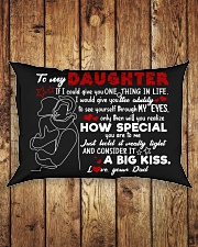Dad To Daughter - Hugging - If I Could Give Rectangular Pillowcase aos-pillow-rectangle-front-lifestyle-2
