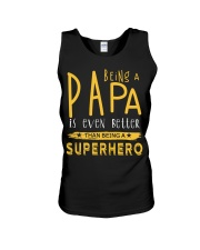 BEING A PAPA IS EVEN BETTER THAN BEING SUPERHERO Unisex Tank thumbnail