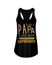 BEING A PAPA IS EVEN BETTER THAN BEING SUPERHERO Ladies Flowy Tank tile