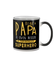 BEING A PAPA IS EVEN BETTER THAN BEING SUPERHERO Color Changing Mug thumbnail