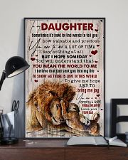 To My Daughter - Lion - Sometimes It's Hard  16x24 Poster lifestyle-poster-2