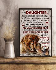 To My Daughter - Lion - Sometimes It's Hard  16x24 Poster lifestyle-poster-3