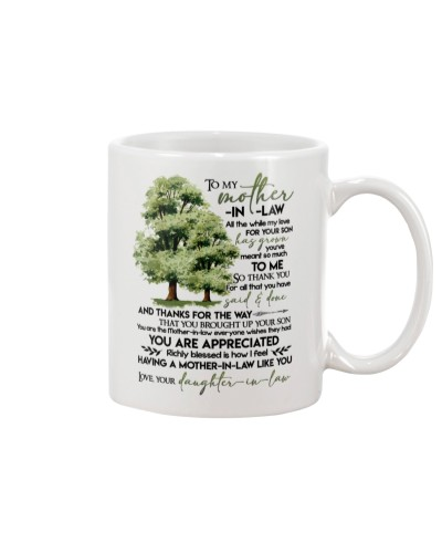MUG - TO MY MOTHER-IN-LAW - TREE - ALL THE WHILE