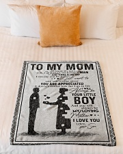 """TO MY MOM - YOU ARE APPRECIATED Small Fleece Blanket - 30"""" x 40"""" aos-coral-fleece-blanket-30x40-lifestyle-front-04"""