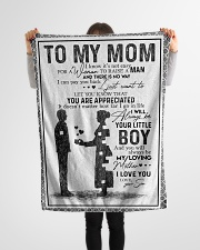 """TO MY MOM - YOU ARE APPRECIATED Small Fleece Blanket - 30"""" x 40"""" aos-coral-fleece-blanket-30x40-lifestyle-front-14"""