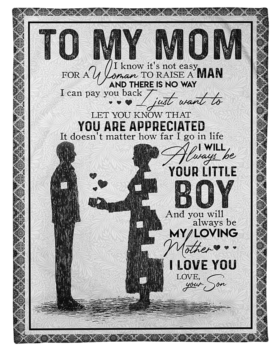 """TO MY MOM - YOU ARE APPRECIATED Small Fleece Blanket - 30"""" x 40"""""""