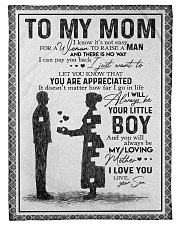 """TO MY MOM - YOU ARE APPRECIATED Small Fleece Blanket - 30"""" x 40"""" front"""