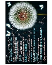 To My Daughter-in-law - Dandelion and Butterfly 16x24 Poster front