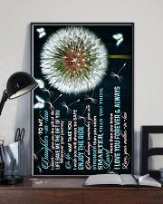 To My Daughter-in-law - Dandelion and Butterfly 16x24 Poster lifestyle-poster-2
