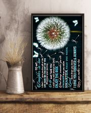 To My Daughter-in-law - Dandelion and Butterfly 16x24 Poster lifestyle-poster-3