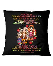 GRANDMA TO GRANDDAUGHTER IN LAW Square Pillowcase thumbnail