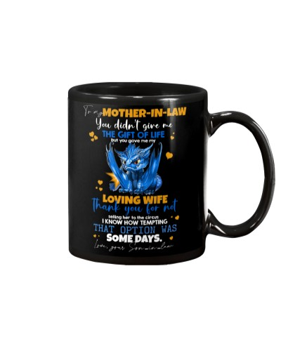 MUG - TO MY MOTHER-IN-LAW - DRAGON - THANK YOU