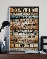 TO MY DAD - MY HERO 16x24 Poster lifestyle-poster-2