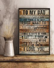 TO MY DAD - MY HERO 16x24 Poster lifestyle-poster-3