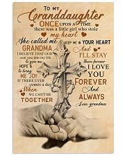 Grandma to Granddaughter - God Sent You Into My  16x24 Poster front