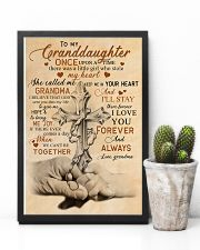 Grandma to Granddaughter - God Sent You Into My  16x24 Poster lifestyle-poster-8