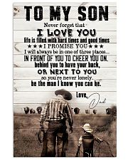 To My Son - I Promise You I Will Always - Poster 16x24 Poster front