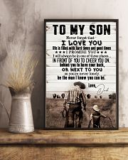 To My Son - I Promise You I Will Always - Poster 16x24 Poster lifestyle-poster-3
