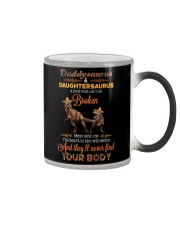 DADDY AND DAUGHTER - DINOSAUR - MESS WITH ME Color Changing Mug thumbnail