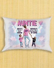 Auntie - Niece and Nephew - Pillowcase Rectangular Pillowcase aos-pillow-rectangle-front-lifestyle-6