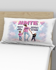 Auntie - Niece and Nephew - Pillowcase Rectangular Pillowcase aos-pillow-rectangular-front-lifestyle-02