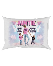 Auntie - Niece and Nephew - Pillowcase Rectangular Pillowcase back