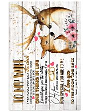 WIFE - DEER - I WISH I COULD TURN BACK THE CLOCK 16x24 Poster front