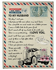 """To My Husband - Trucker - The Day I Met You  Small Fleece Blanket - 30"""" x 40"""" front"""