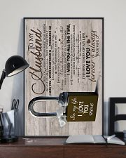 Wife To Husband - Lock - I Miss You When  16x24 Poster lifestyle-poster-2