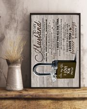 Wife To Husband - Lock - I Miss You When  16x24 Poster lifestyle-poster-3