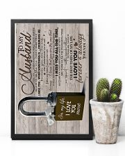 Wife To Husband - Lock - I Miss You When  16x24 Poster lifestyle-poster-8