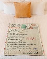 "Gift For Son - Fleece Blanket Small Fleece Blanket - 30"" x 40"" aos-coral-fleece-blanket-30x40-lifestyle-front-04"