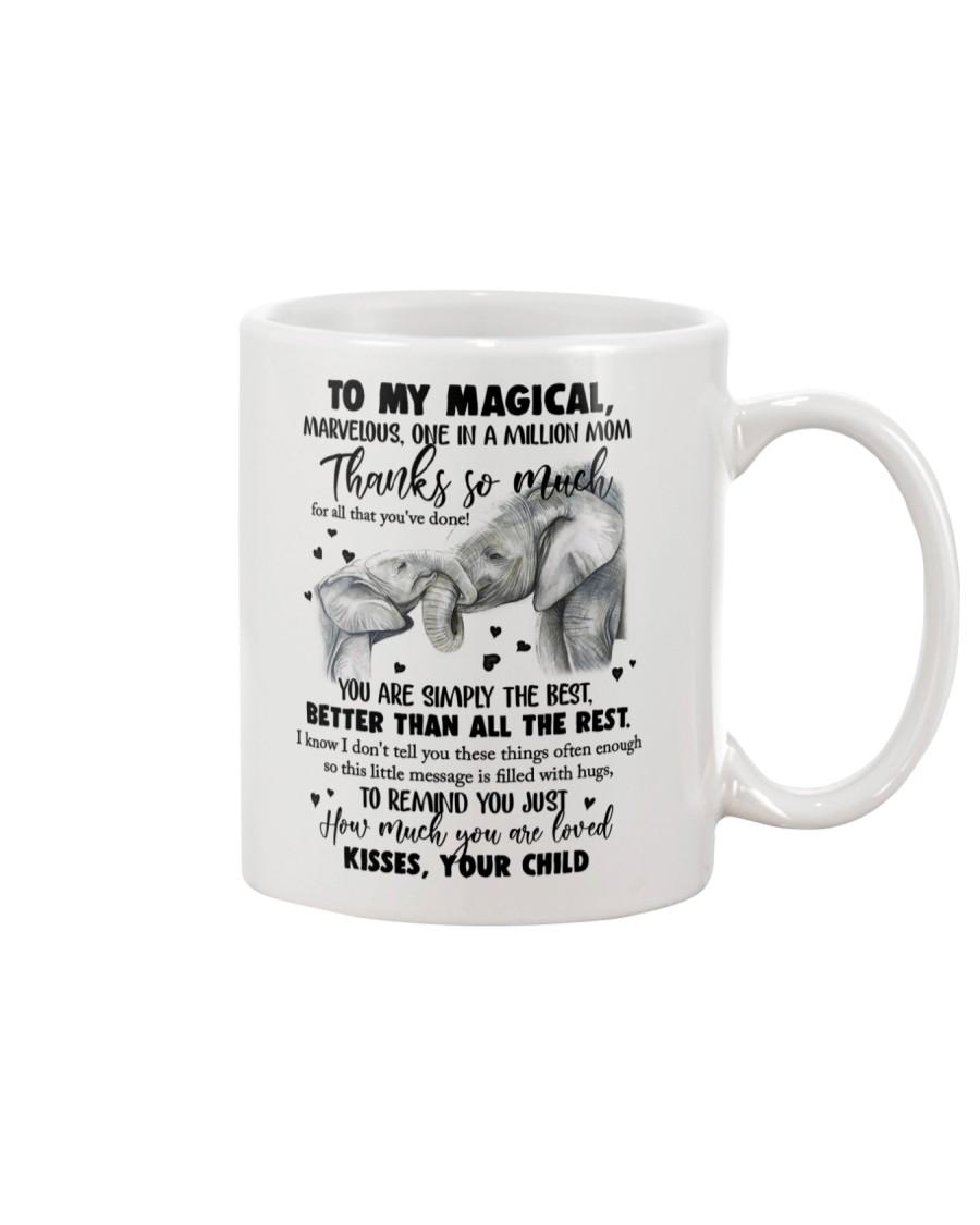 MUG - TO MY MOM - ELEPHANT - THANK YOU Mug