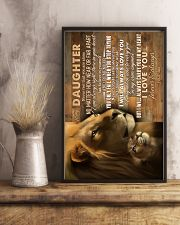 To My Daughter - Lions - Never Feel Taht You  16x24 Poster lifestyle-poster-3