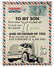 "Trucker - I'm Not Close by - Fleece Blanket Small Fleece Blanket - 30"" x 40"" front"