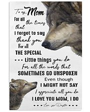 TO MY MOM - WOLF - I LOVE YOU 16x24 Poster front