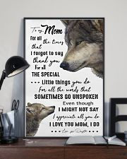 TO MY MOM - WOLF - I LOVE YOU 16x24 Poster lifestyle-poster-2