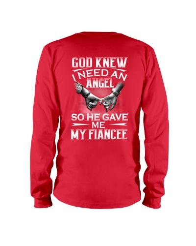 God knew I need an angel so he gave my my fiance