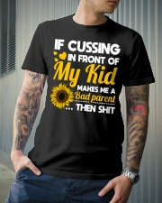 If cussing in front of My kid Classic T-Shirt lifestyle-mens-crewneck-front-6