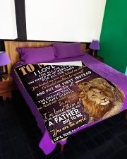 "FLEECE BLANKET - TO MY DAD - LION Large Fleece Blanket - 60"" x 80"" aos-coral-fleece-blanket-60x80-lifestyle-front-01"