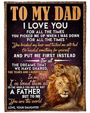 """FLEECE BLANKET - TO MY DAD - LION Large Fleece Blanket - 60"""" x 80"""" front"""