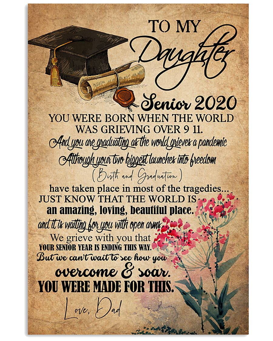 POSTER- TO MY DAUGHTER - GRADUATION - SENIOR 16x24 Poster