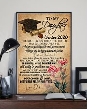 POSTER- TO MY DAUGHTER - GRADUATION - SENIOR 16x24 Poster lifestyle-poster-2