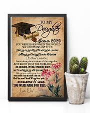 POSTER- TO MY DAUGHTER - GRADUATION - SENIOR 16x24 Poster lifestyle-poster-8
