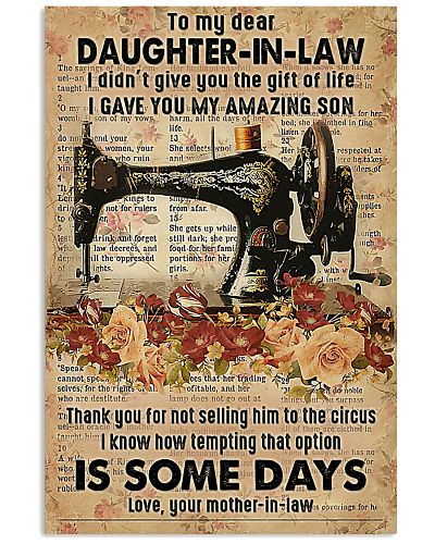 POSTER - TO MY DAUGHTER-IN-LAW - SEWING - THE ONE