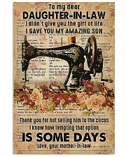 POSTER - TO MY DAUGHTER-IN-LAW - SEWING - THE ONE 16x24 Poster front