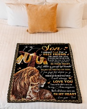 """To My Son - Lion - I Asked God For A Best Friend  Small Fleece Blanket - 30"""" x 40"""" aos-coral-fleece-blanket-30x40-lifestyle-front-04"""