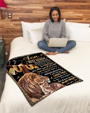 """To My Son - Lion - I Asked God For A Best Friend  Small Fleece Blanket - 30"""" x 40"""" aos-coral-fleece-blanket-30x40-lifestyle-front-08"""