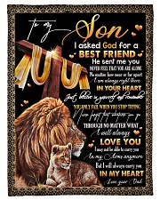 """To My Son - Lion - I Asked God For A Best Friend  Small Fleece Blanket - 30"""" x 40"""" front"""