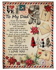To My Dad - Letter - Fleece Blanket Fleece Blanket tile